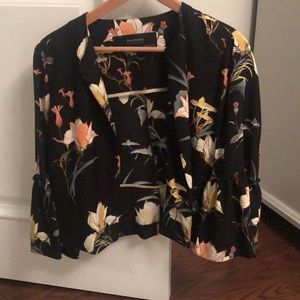 Zara light floral jacket